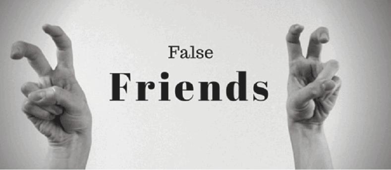 Falsas simetrias - os falsos cognatos na língua inglesa